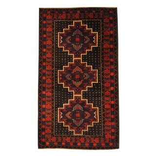 Handmade One-of-a-Kind Balouchi Wool Rug (Afghanistan) - 3'7 x 6'4