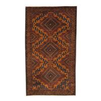 Handmade Herat Oriental Afghan 1960s Semi-antique Tribal Balouchi Wool Rug (Afghanistan) - 3'7 x 6'2