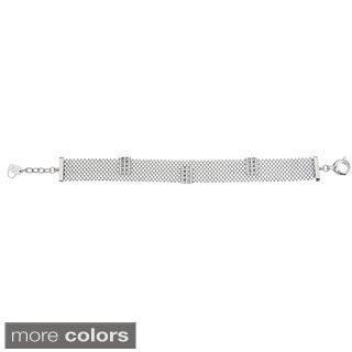 Decadence Sterling Silver Italian Caged Link brcelet