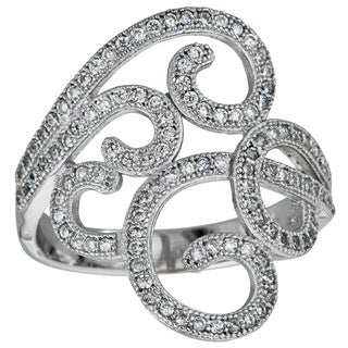 Decadence Sterling Silver Micropave Filigree with Cubic Zirconia