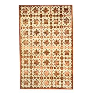 Herat Oriental Indo Hand-knotted Tribal Tibetan Wool Rug (5' x 8')