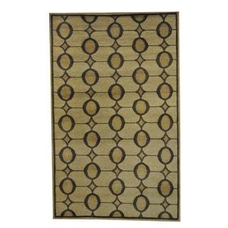Herat Oriental Indo Hand-knotted Tribal Tibetan Wool Rug (5' x 8')