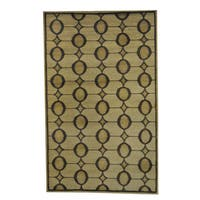 Herat Oriental Indo Hand-knotted Tribal Tibetan Wool Rug - 5' x 8'