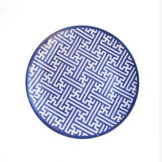 American Atelier Maze Blue Platter