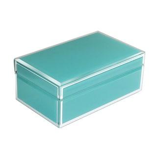 Teal Glass Jewelry Box