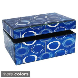 American Atelier Blue Swirl Rectangle Jewelry Box