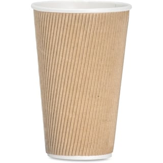 Genuine Joe 16 oz. Ripple Hot Cup (Pack of 500)