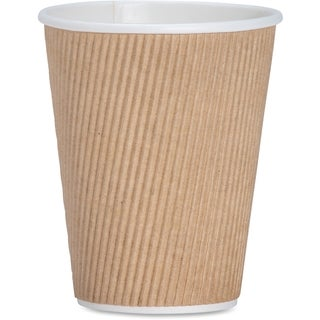Genuine Joe 12 oz. Ripple Hot Cups (Pack of 500)