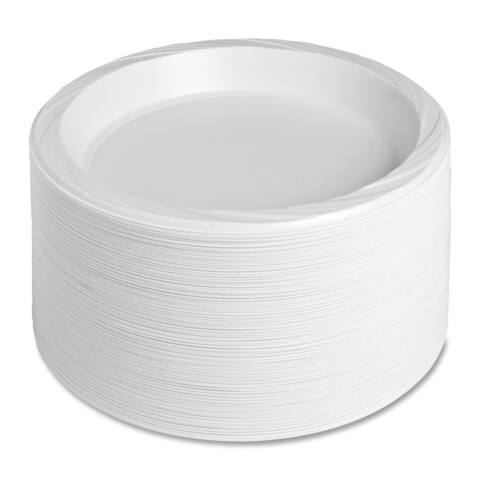 Genuine Joe Reusable/ Disposable 10.25-inch Plate (Pack of 125)