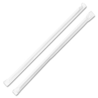 Genuine Joe Jumbo Translucent Wrapped Straw (Pack of 500)
