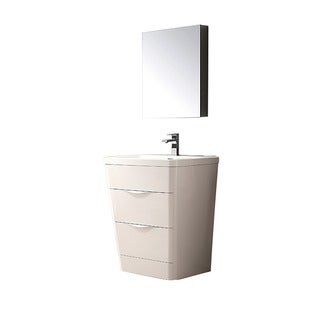 Fresca Milano 26-inch Glossy White Modern Bathroom Vanity with Medicine Cabinet