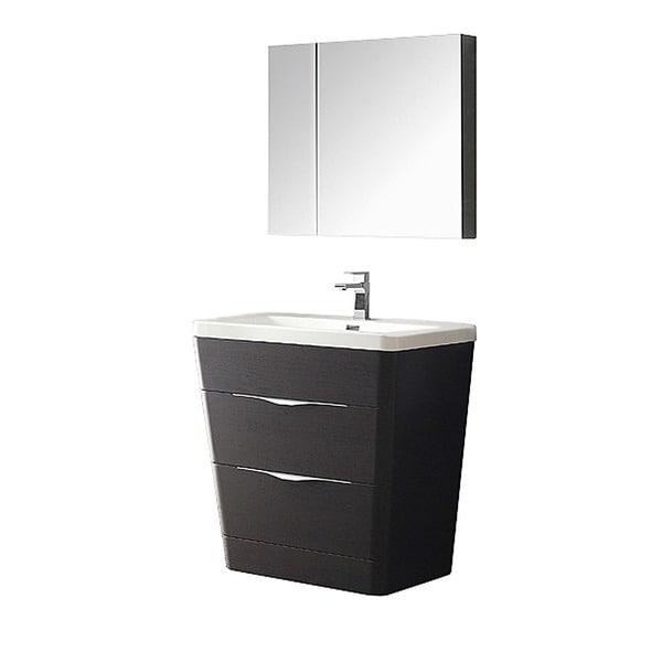 Genial Fresca Milano 32 Inch Chestnut Modern Bathroom Vanity With Medicine Cabinet