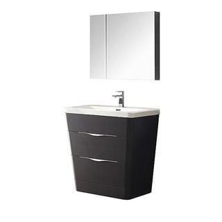 Fresca Milano 32-inch Chestnut Modern Bathroom Vanity with Medicine Cabinet