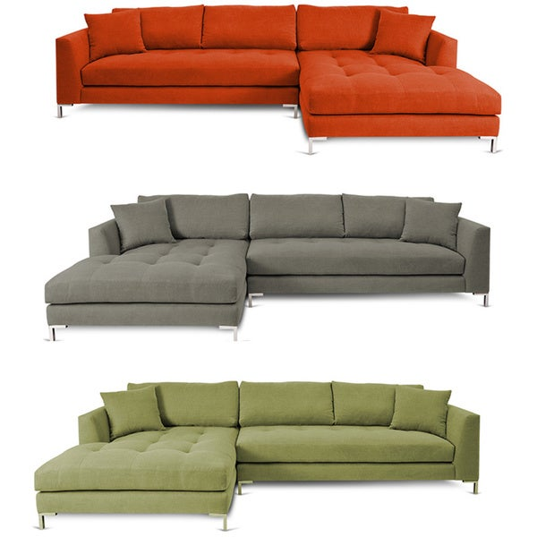 Decenni custom furnture divina ii sectional sofa free for Doris 3 piece sectional sofa