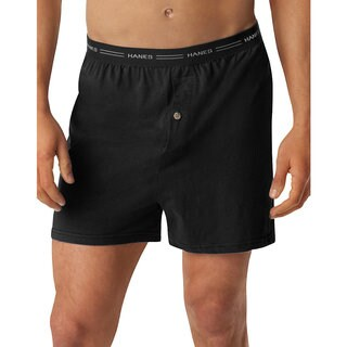 Hanes Men's Tagless ComfortSoft Knit Boxer with Comfort Flex Waistband (Pack of 5)