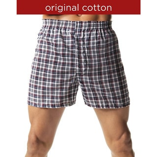 Hanes Men's Tagless Tartan Boxers with Comfort Flex Waistband (Pack of 5)