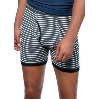 Hanes Men's Ringer Boxer Brief with Comfort Flex Waistband (Pack of 4)