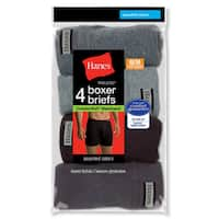 Hanes Men's Tagless Boxer Briefs with ComfortSoft Waistband (Pack of 4)