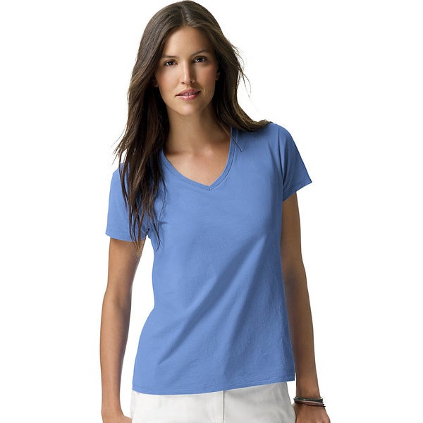 Hanes Womens Nano-T V-Neck T-Shirt