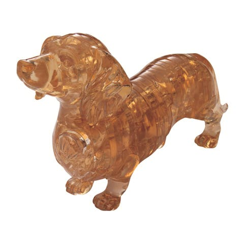 3D Crystal Dachshund 41-piece Puzzle - Multicolor