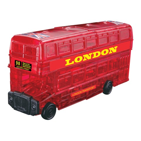 3D Crystal London Bus Red 53-piece Puzzle