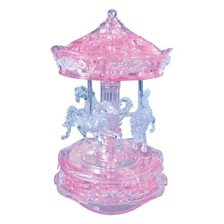 3D Crystal Carousel Pink 83-piece Puzzle