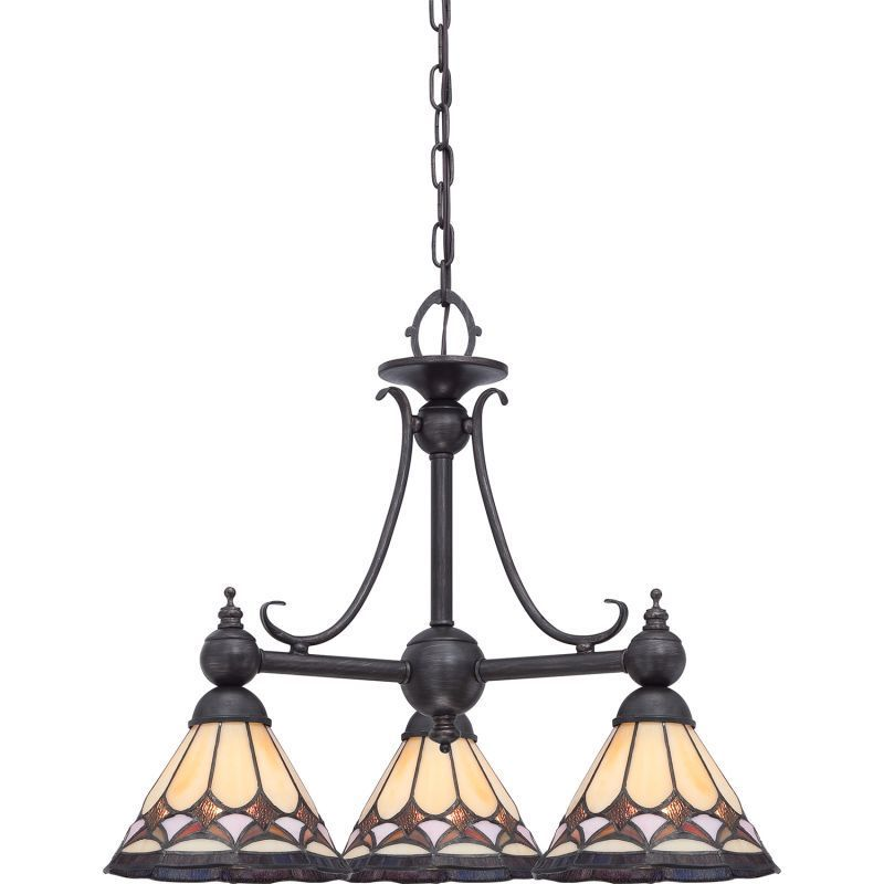 Quoizel Cambridge 3-Light Espresso Finish Chandelier With...