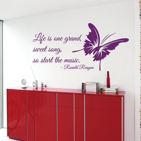 Music Quote Sticker Vinyl Wall Art Free Shipping On Orders Over 45 Overstock 17168572