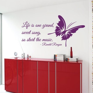 Music Quote Sticker Vinyl Wall Art