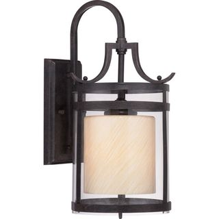 Cambridge 17.25 in. Imperial Bronze Finish Outdoor Wall Lantern With A Clear Shade