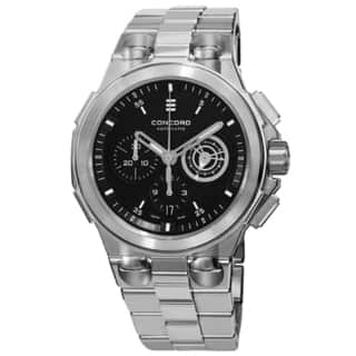 Concord Men's 0320178 'C2' Black Dial Stainless Steel Bracelet Chronograph Automatic Watch|https://ak1.ostkcdn.com/images/products/10021456/P17168477.jpg?impolicy=medium