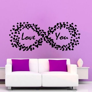 Love You Quote Sticker Vinyl Wall Art