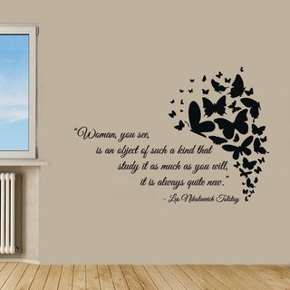 Love Family Woman quote Sticker Vinyl Wall Art