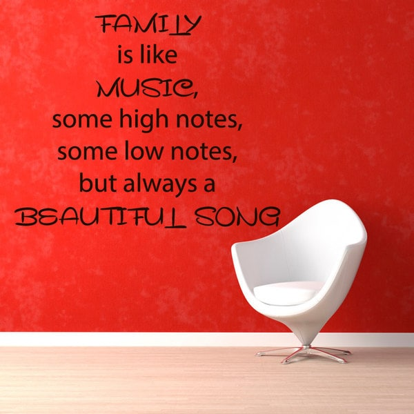 Family Love Romantic quote Sticker Vinyl Wall Art