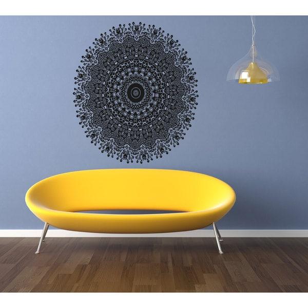 Mandala Sanskrit circle spiritual symbol Sticker Vinyl Wall Art ...