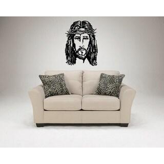 Jesus Face Holly Bible Sticker Vinyl Wall Art