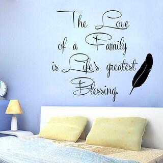 Family Love quote Sticker Vinyl Wall Art
