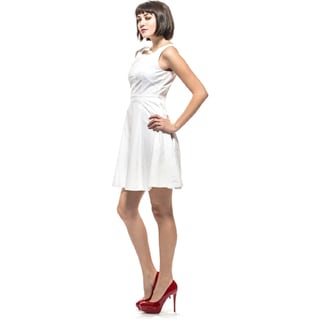 Amelia Women's Cotton Twill Fit-and-Flare Dress