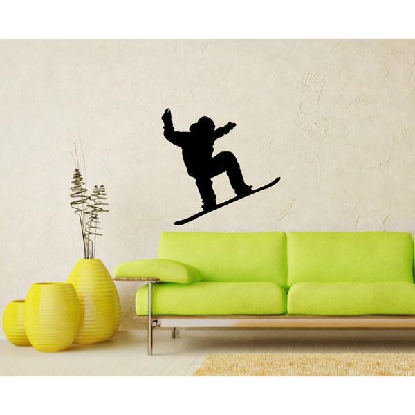 Snowboard Snowboarding Sticker Vinyl Wall Art - Free Shipping On ...
