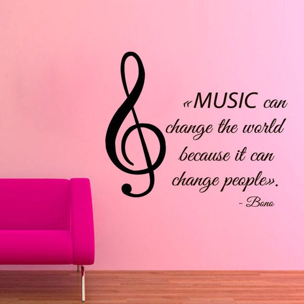 Shop music quote by bono u2 sticker vinyl wall art free - Over the garden wall soundtrack vinyl ...