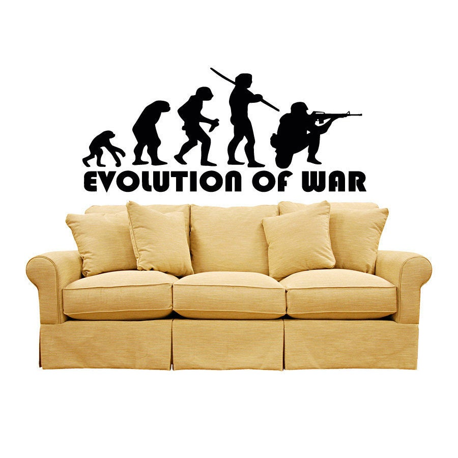 War Military Army Weapon Evolution Sticker Vinyl Wall Art | eBay