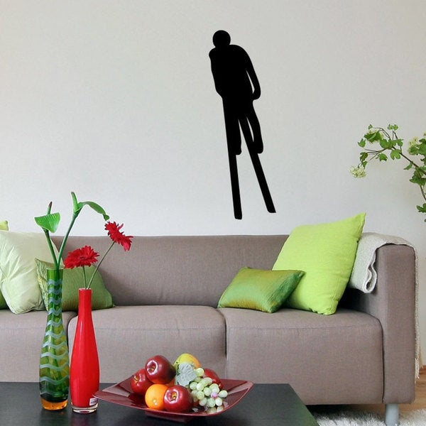 Ski Jumping Nordic Skier Sticker Vinyl Wall Art