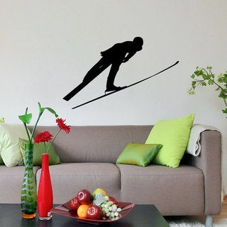 Ski Jumper Mid Air Sticker Vinyl Wall Art