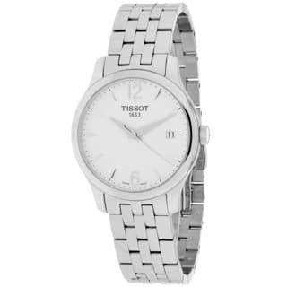 Tissot Women's T0632101103700 Tradition Round Silvertone Bracelet Watch|https://ak1.ostkcdn.com/images/products/10022144/P17168672.jpg?impolicy=medium