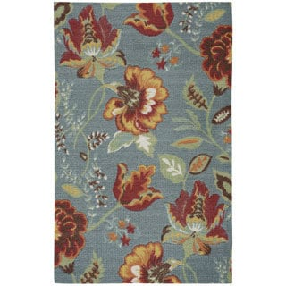 Rug Squared Sea Breeze Floral Accent Rug (2'6 x 4') - 2'6 x 4'