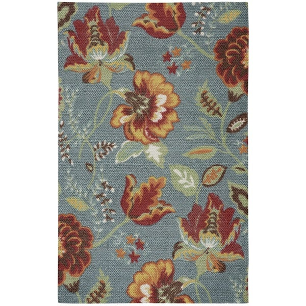 Rug Squared Sea Breeze Floral Accent Rug (2'6 x 4')