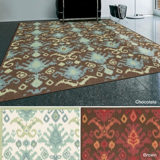 Rug Squared Sea Breeze Ikat Accent Rug (2'6 x 4')