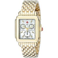 Michele Women's MWW06P000016 'Deco' Gold-tone Stainless Steel Watch