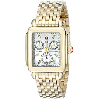 Michele Women's 'Deco' Gold-tone Stainless Steel Watch