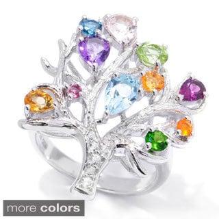 2.21ctw Multi Gemstone Tree of Life Ring